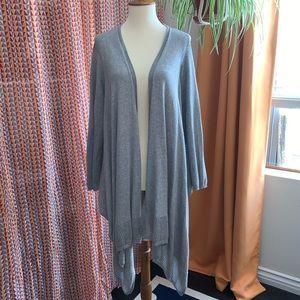 DYNY grey open cardigan size large